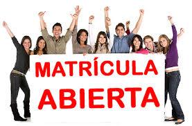 ABIERTA LA MATRICULA ON LINE HASTA EL DOMINGO, 10 DE ENERO DE 2021 EN NUESTRA WEB