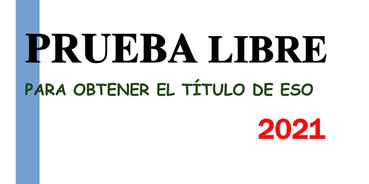 LISTADOS PROVISIONALES Y DEFINITIVOS DE ADMITIDOS Y EXCLUIDOS EN LA PRUEBA LIBRE DE GESO SEPTIEMBRE 2021